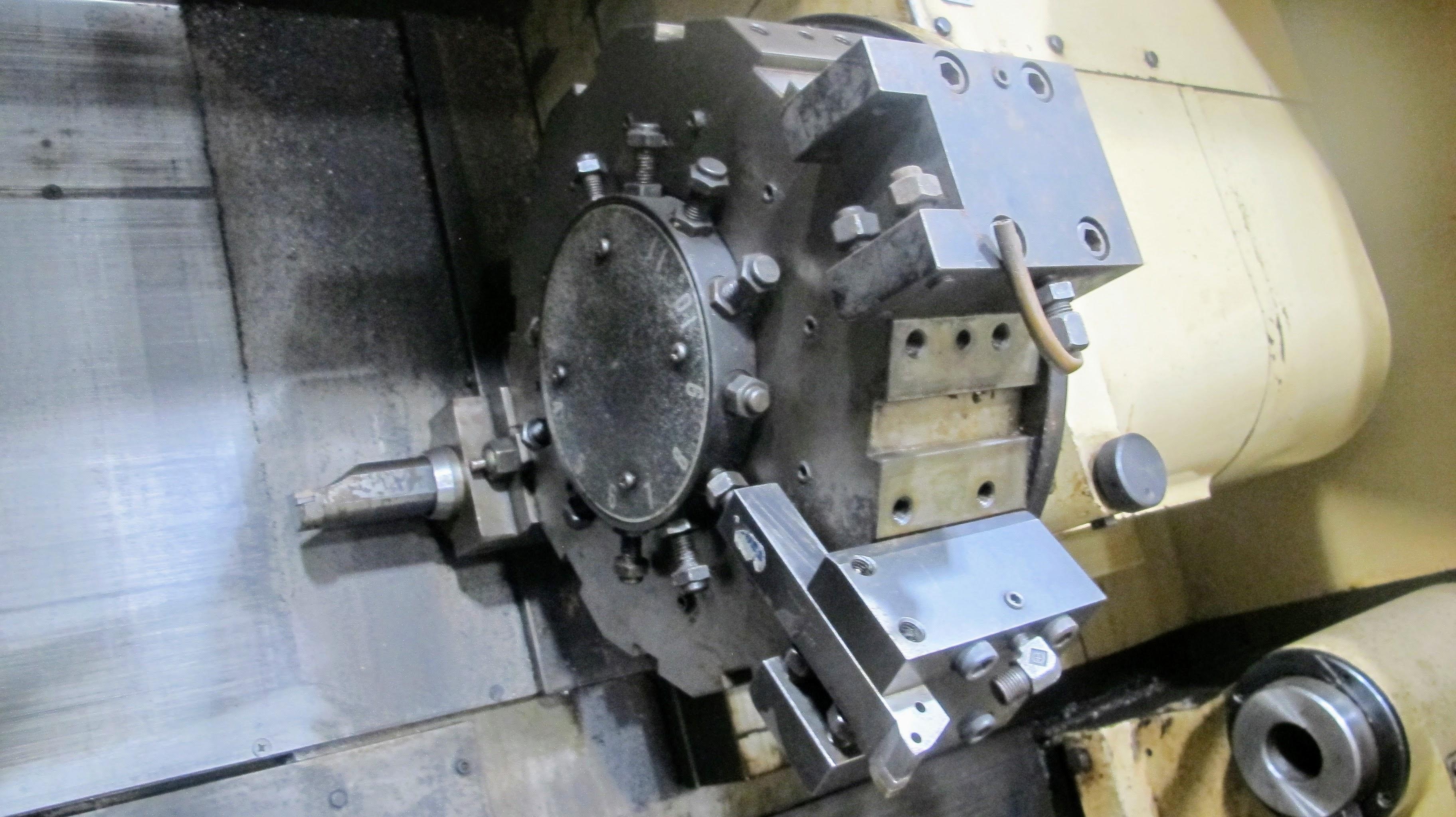 "OKUMA ACT-4 CNC LATHE W/12"" 3 JAW CHUCK, FANUC CONTROL, TAIL STOCK, ATC-12 W/10 TOOL HOLDERS, - Image 5 of 17"