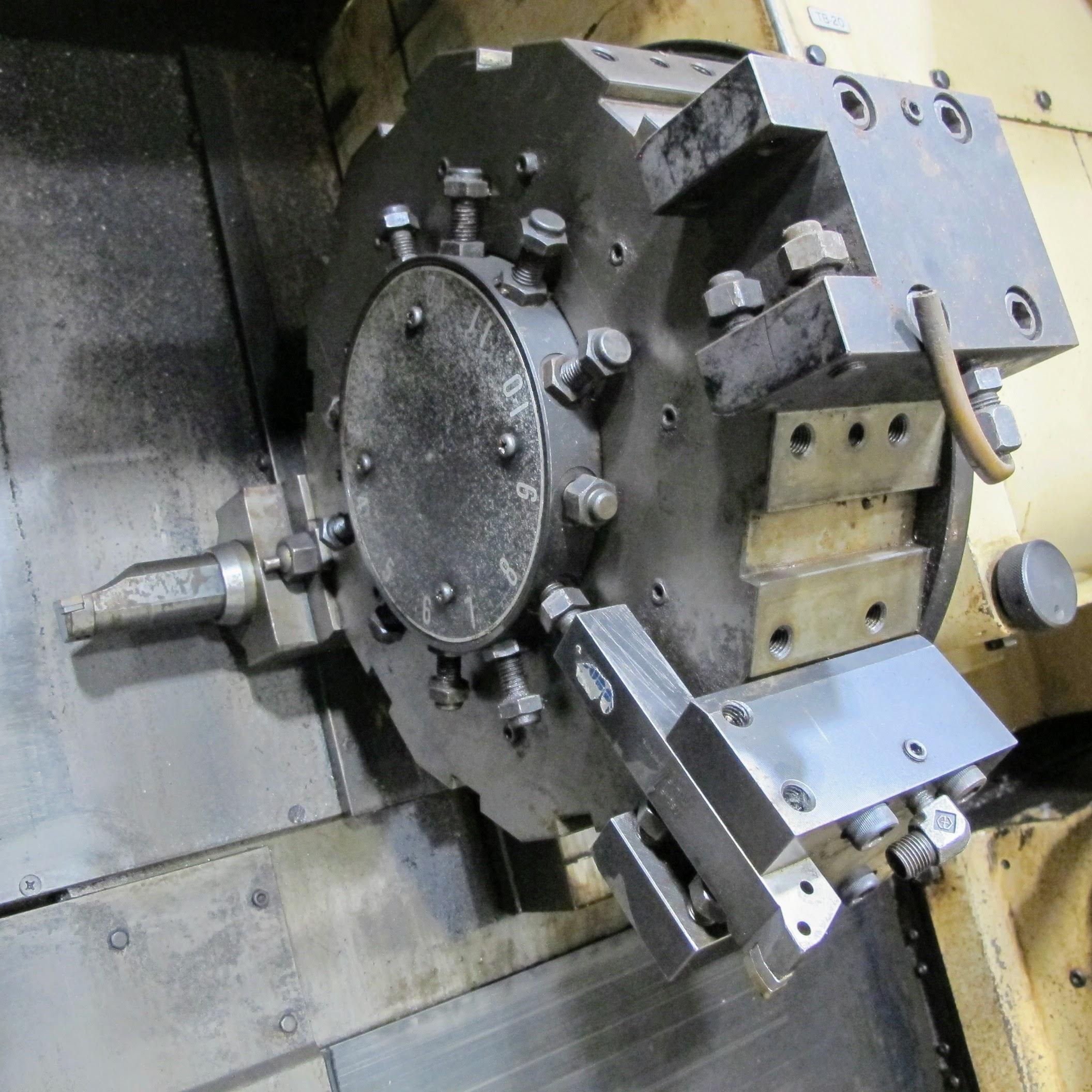 "OKUMA ACT-4 CNC LATHE W/12"" 3 JAW CHUCK, FANUC CONTROL, TAIL STOCK, ATC-12 W/10 TOOL HOLDERS, - Image 15 of 17"