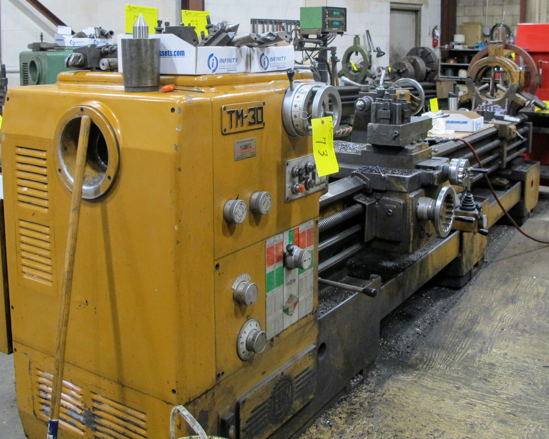 """PBR TM-30 LATHE, 2-AXIS DRO, 12"""" 3-JAW CHUCK, 12' BED, 15 - 1,500 RPM, QUICK CHANGE TOOL HOLDER, - Image 2 of 6"""