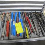 CONTENTS OF 1 DRAWER OF ROUSSEAU CABINET (HIGH SPEED DRILL BITS)