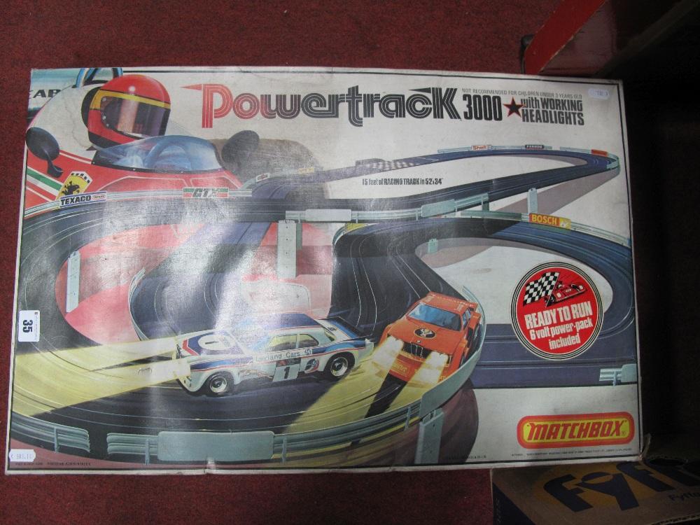 Lot 35 - A Matchbox Powertrack 3000 Slot Racing Set, (boxed).