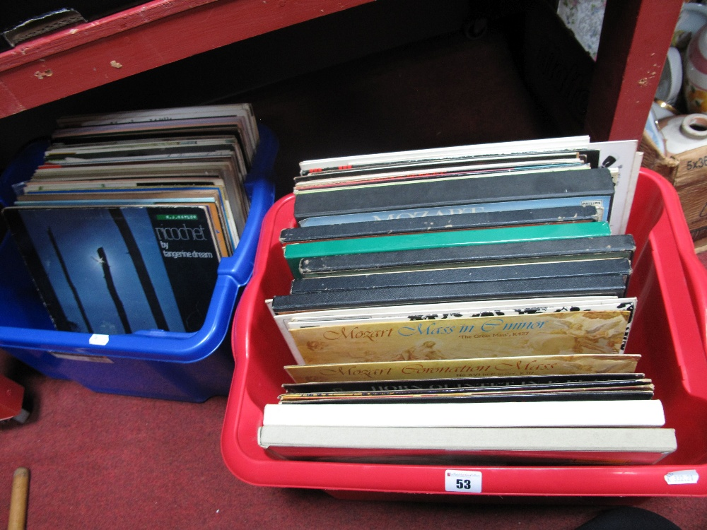 Lot 53 - Classical LP's, including stereo recording on CBS, Saga, box sets, etc:- Two Boxes
