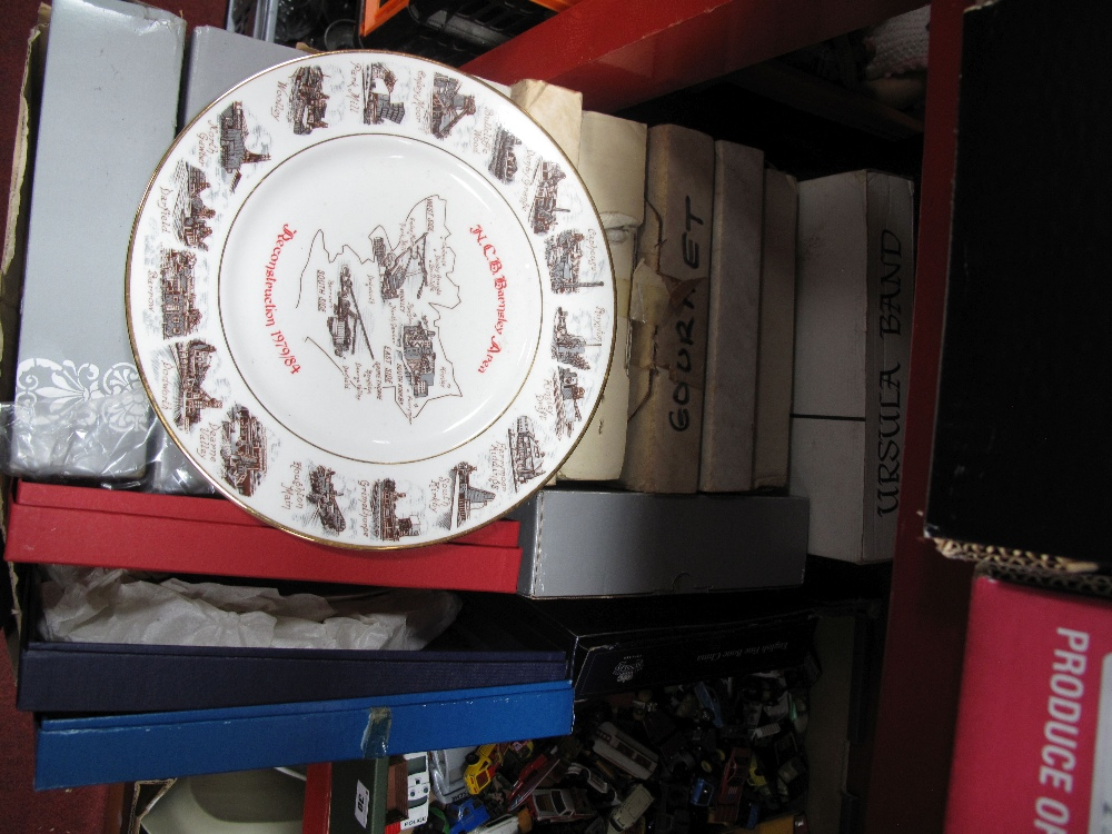 Lot 31 - Aynsley, Spode, Edwardian 'Mining' Worcester and Other Collectors Plates:- One Box