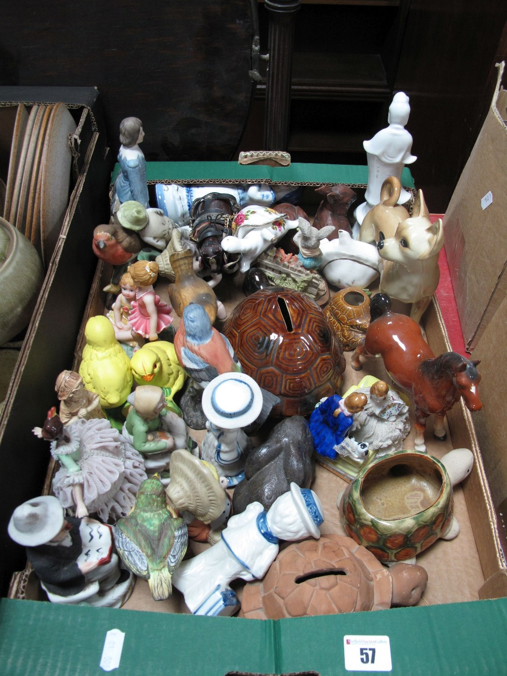 Lot 57 - A Coopercraft Dog, other animals, figures:- One Box