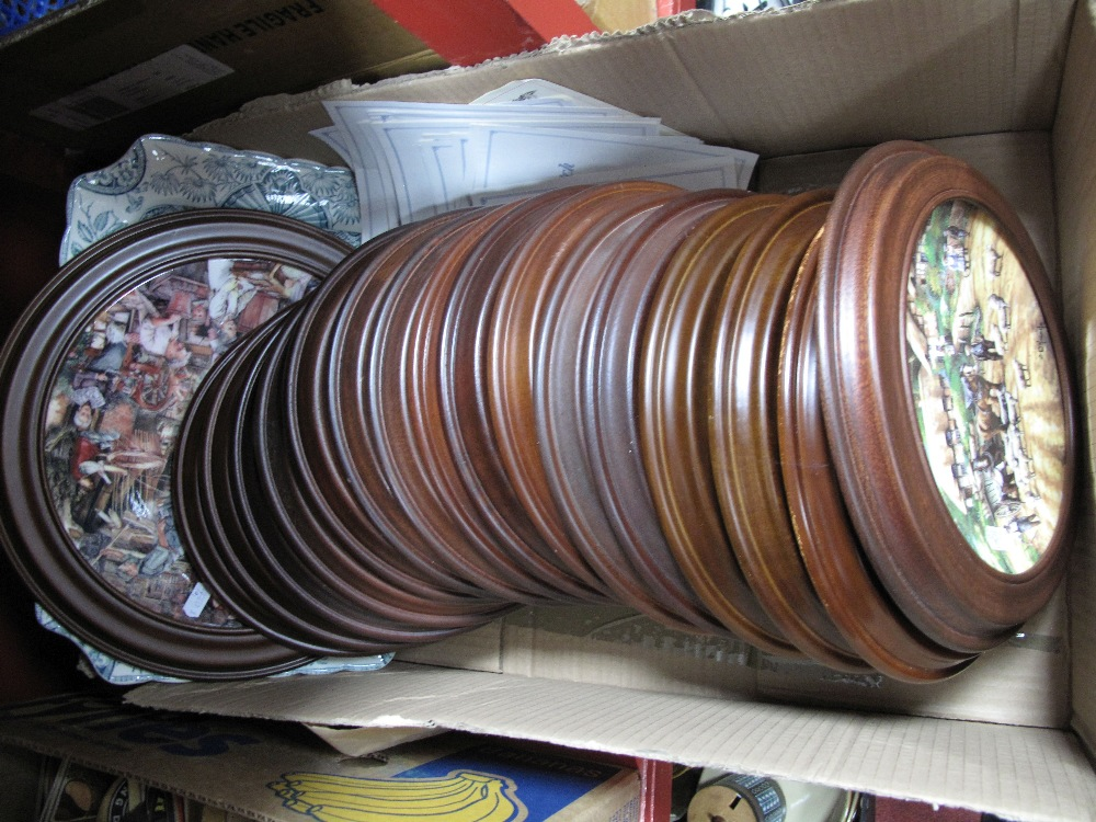 Lot 27 - Sixteen Wedgwood Limited Edition Country Days Plates, a large Royal Doulton example and