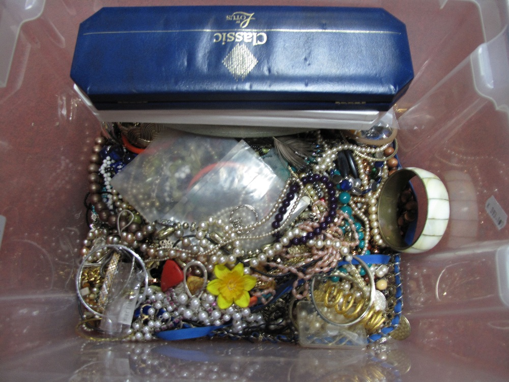 Lot 51 - A Mixed Lot of Assorted Costume Jewellery, including beads, bangles, etc:- One Box