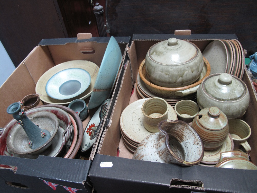 Lot 56 - Stoneware and Studio Pottery Bowls, shallow dishes, dinnerwares, decorative plates, bowl and
