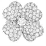 COSMOS DIAMOND RING, VAN CLEEF AND ARPELS in 18ct white gold, depicting a flower set with
