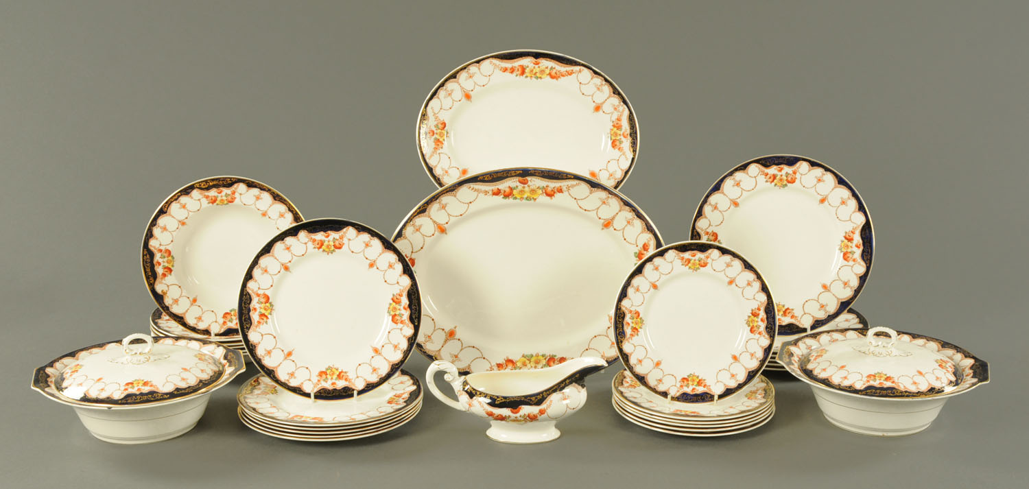 Lot 34 - A Myott Son & Co rosemary pattern 29 piece dinner service.