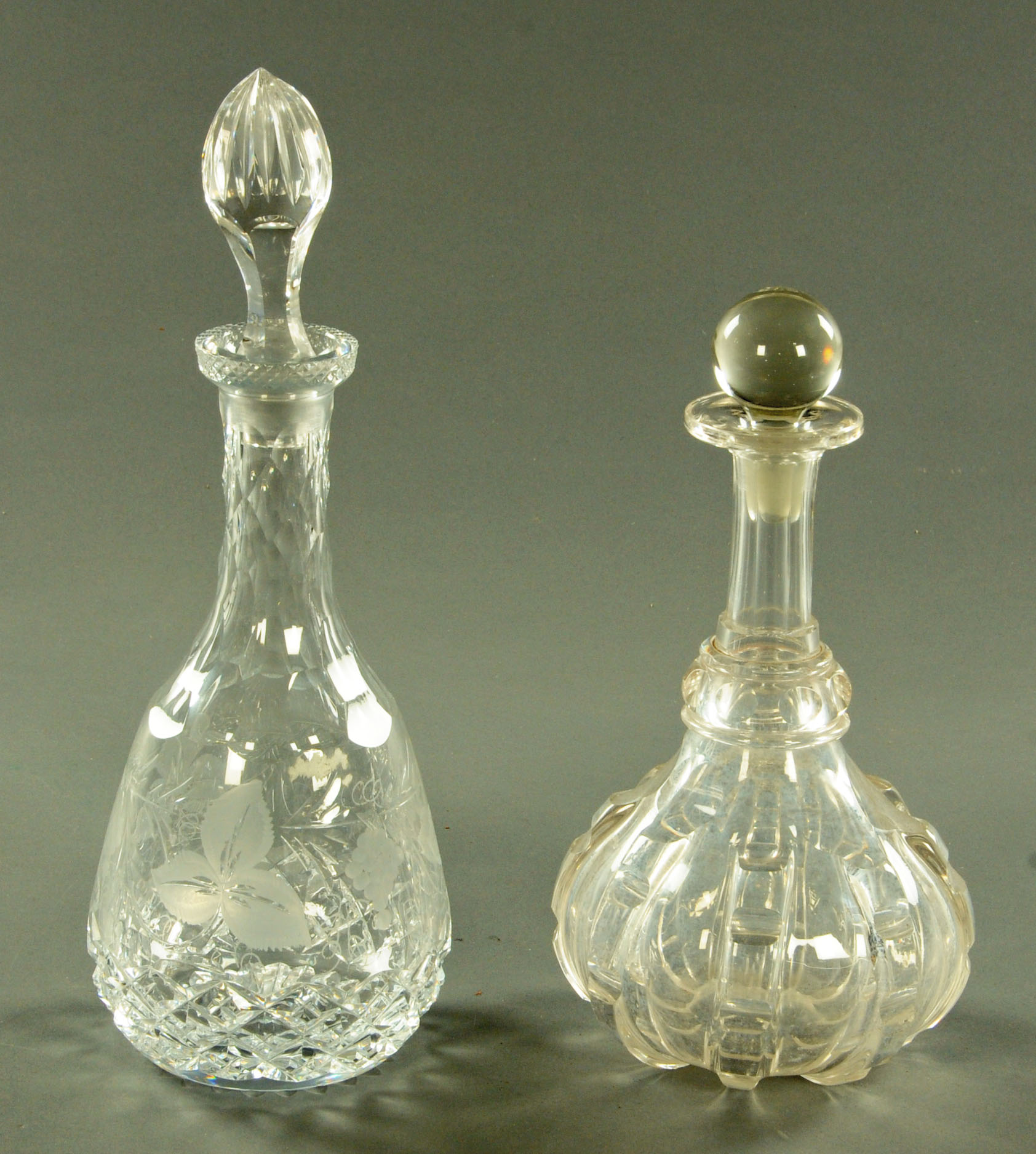 Lot 7 - Two decanters.