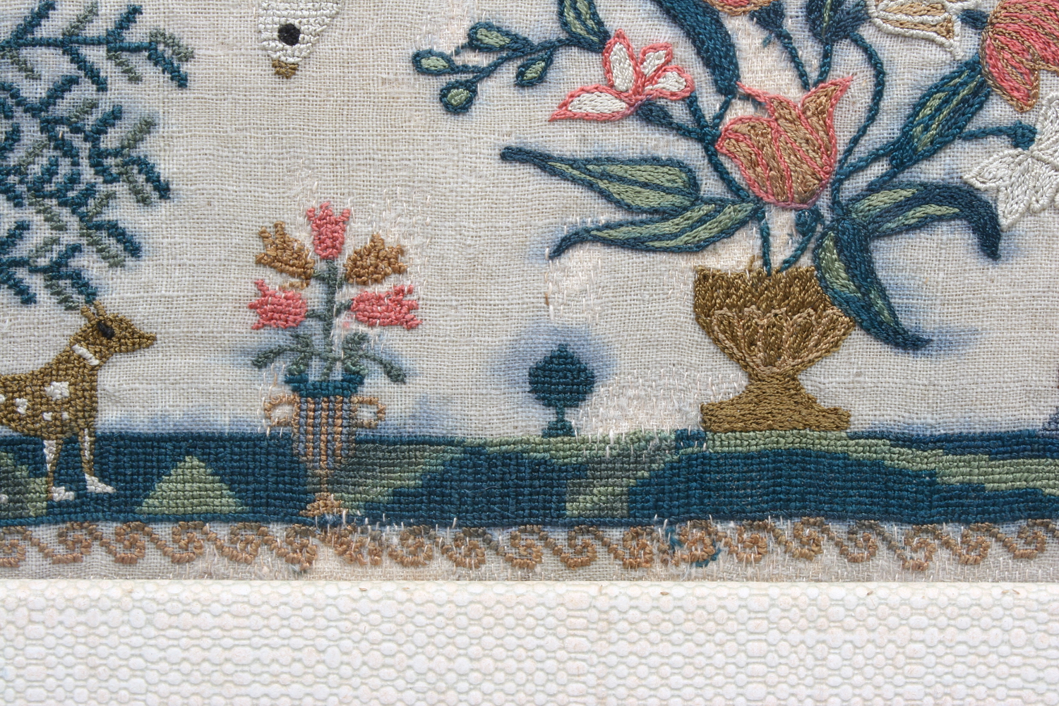 Lot 763 - A framed George III sampler, Mary Jubb 1815.