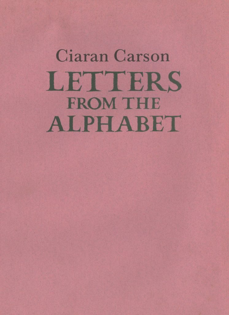 Carson (Ciaran) Letters from The Alphabe