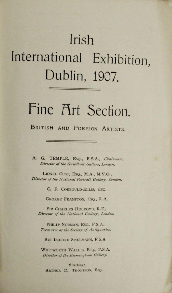 Dublin Exhibition: Irish International E
