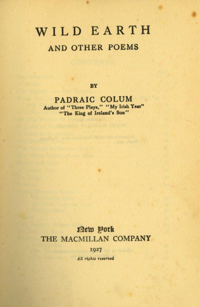 Signed Copy with Manuscript Verse