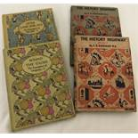 4 vintage illustrated children's books.
