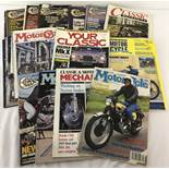 "25 copies of ""Classic Bike"" Magazine. Dates range from 1980's to 1990's."