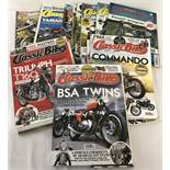 "25 copies of ""Classic Bike"" magazine. Dates ranging from 2003-2015."