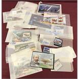 A quantity of Jersey transport and aviation themed, mint collectors stamps.