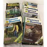 "45 copies of ""Treasure Hunting"" magazine dating from 1981 to 1985."