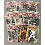 A collection of Boxing and Martial Arts magazines.