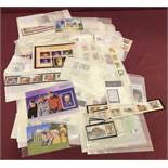 A collection of Jersey collectors, mint stamp sets and mini sheets.