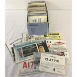 A quantity of vintage worldwide QSL cards (radio operators calling cards).
