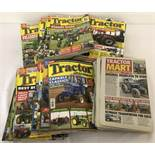 "26 copies of ""Tractor & Machinery"" magazine. Dates range from 2016 to 2018."