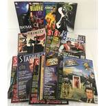 A collection of Sci Fi TV magazines and Comic Book graphic novels.