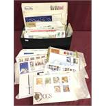 A collection of world stamps, first day covers and philatelic items.