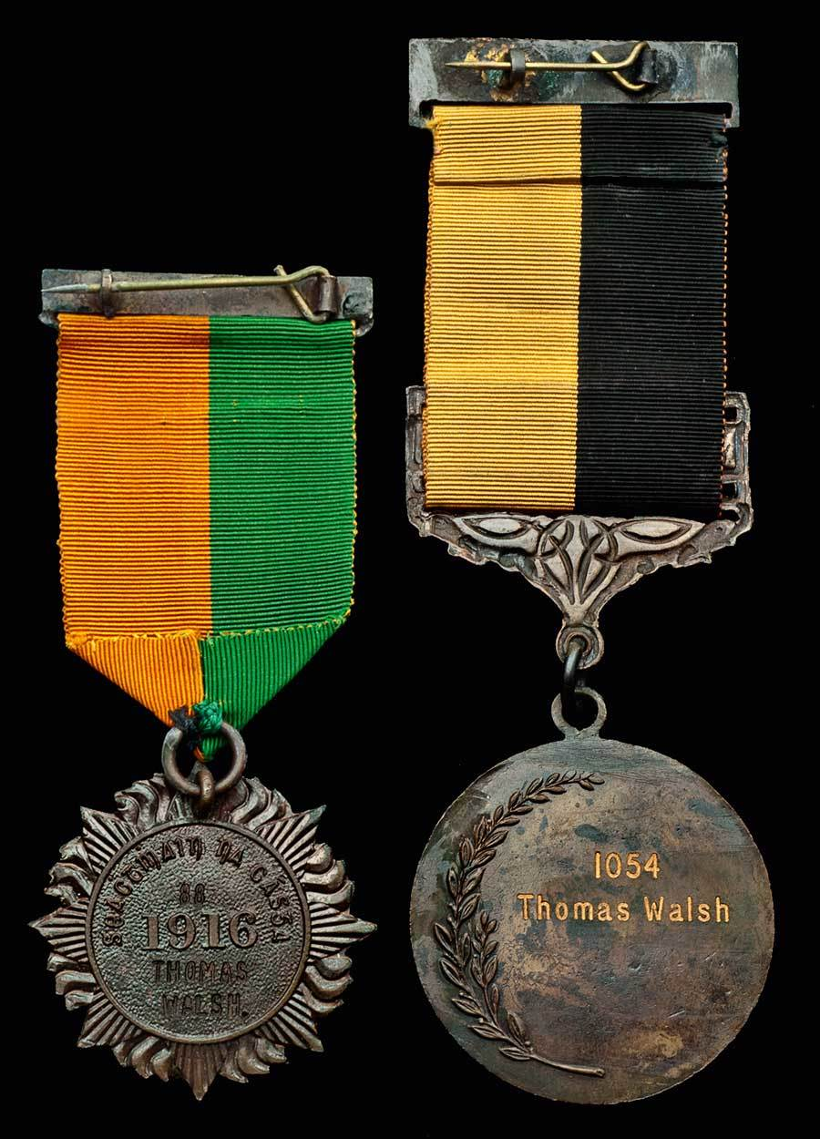 Lot 737 - A 1916 Medal Pair to Thomas Walsh, Irish Citizen Army, Who Served During the 1916 Easter Rising wit