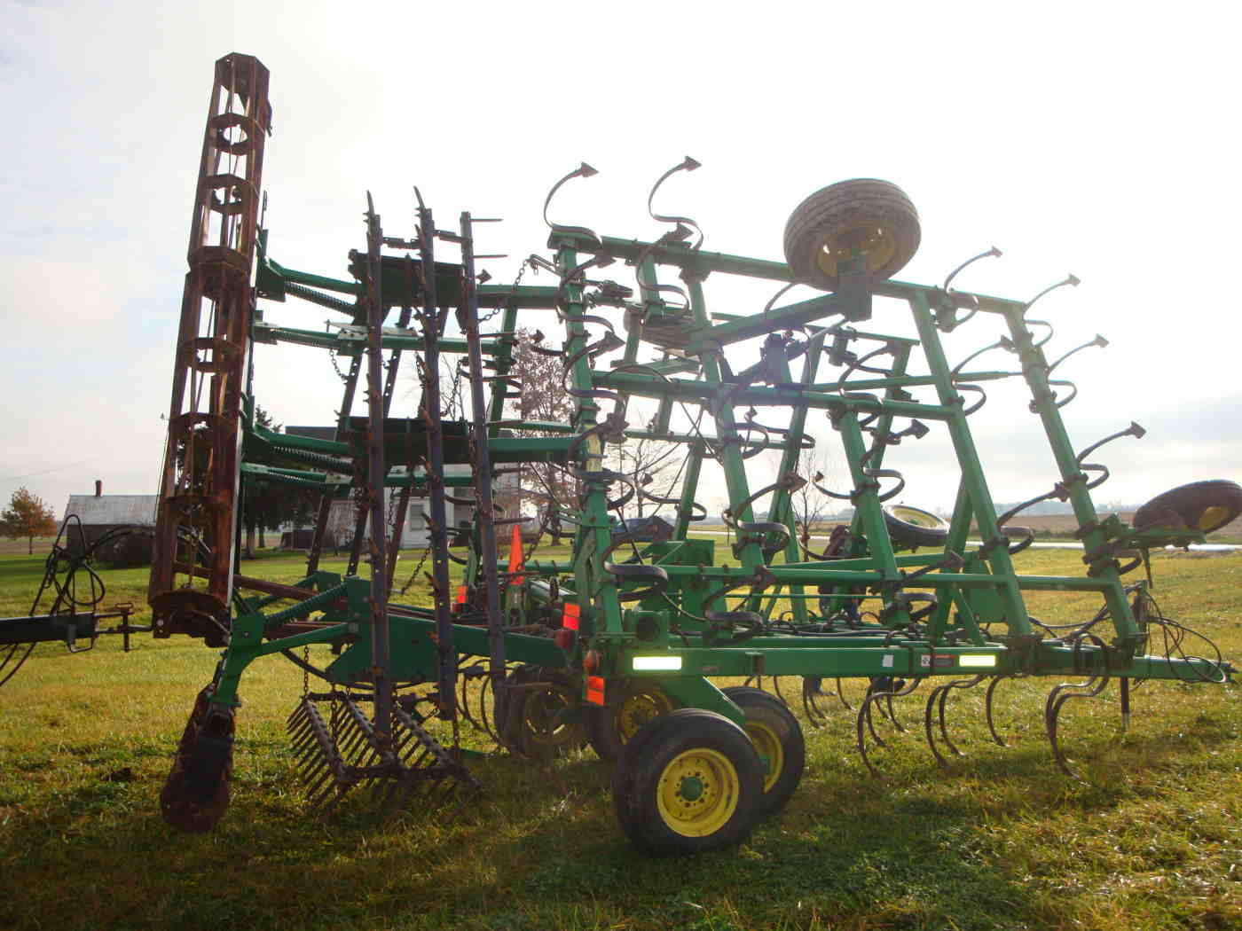 Rolling Basket Harrow : Ft john deere field cultivator w harrow rolling