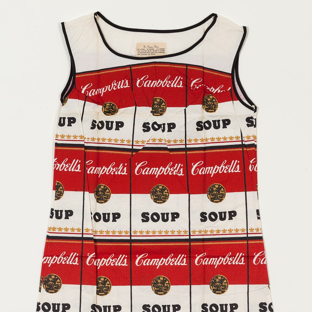 Auktionslos 91 - After Andy Warhol (1928-1987), The Souper Dress, 1966/67  Serigraph in colors on paper dress USA,