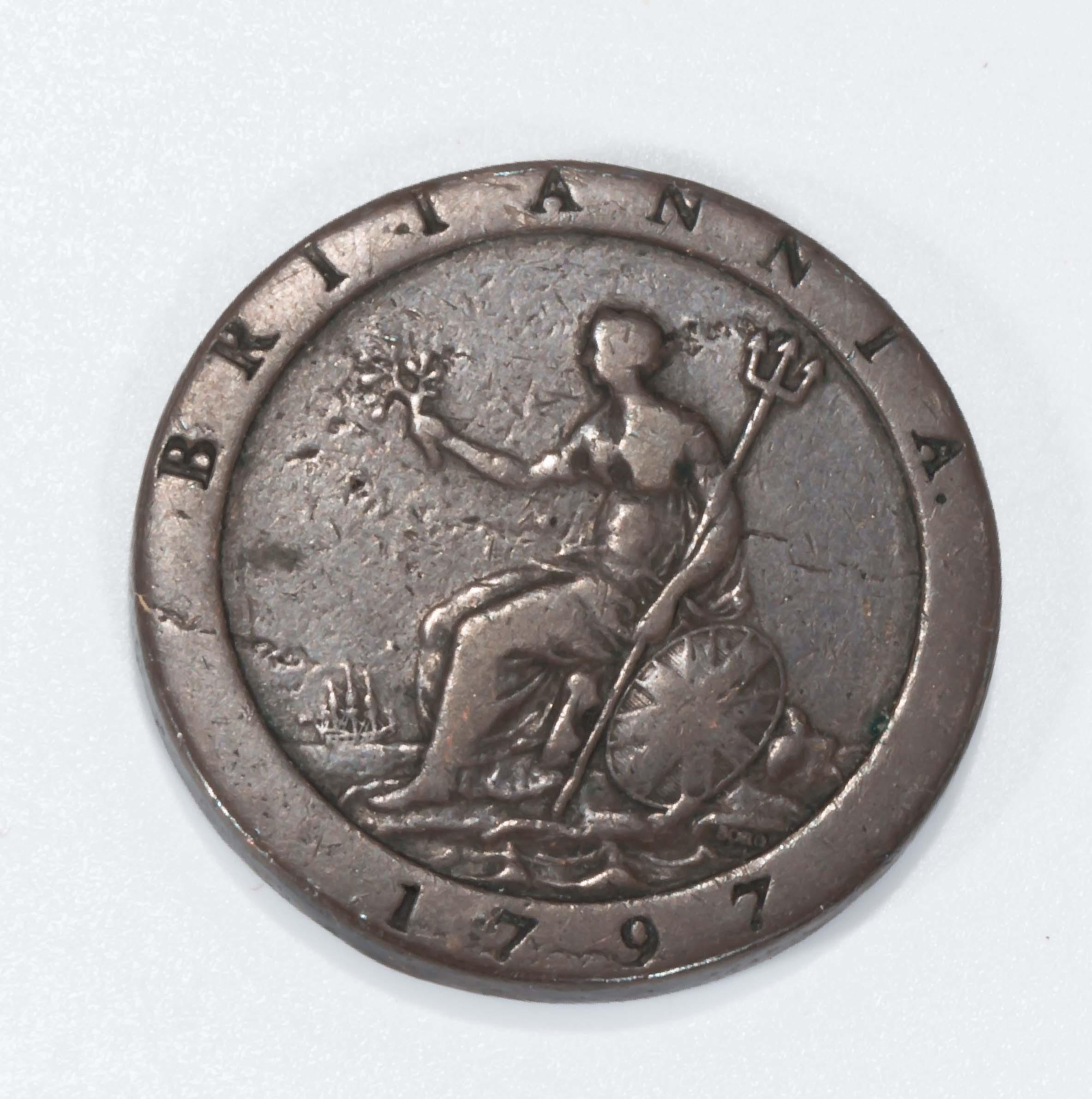 Lot 232 - A George III 1797 cartwheel penny