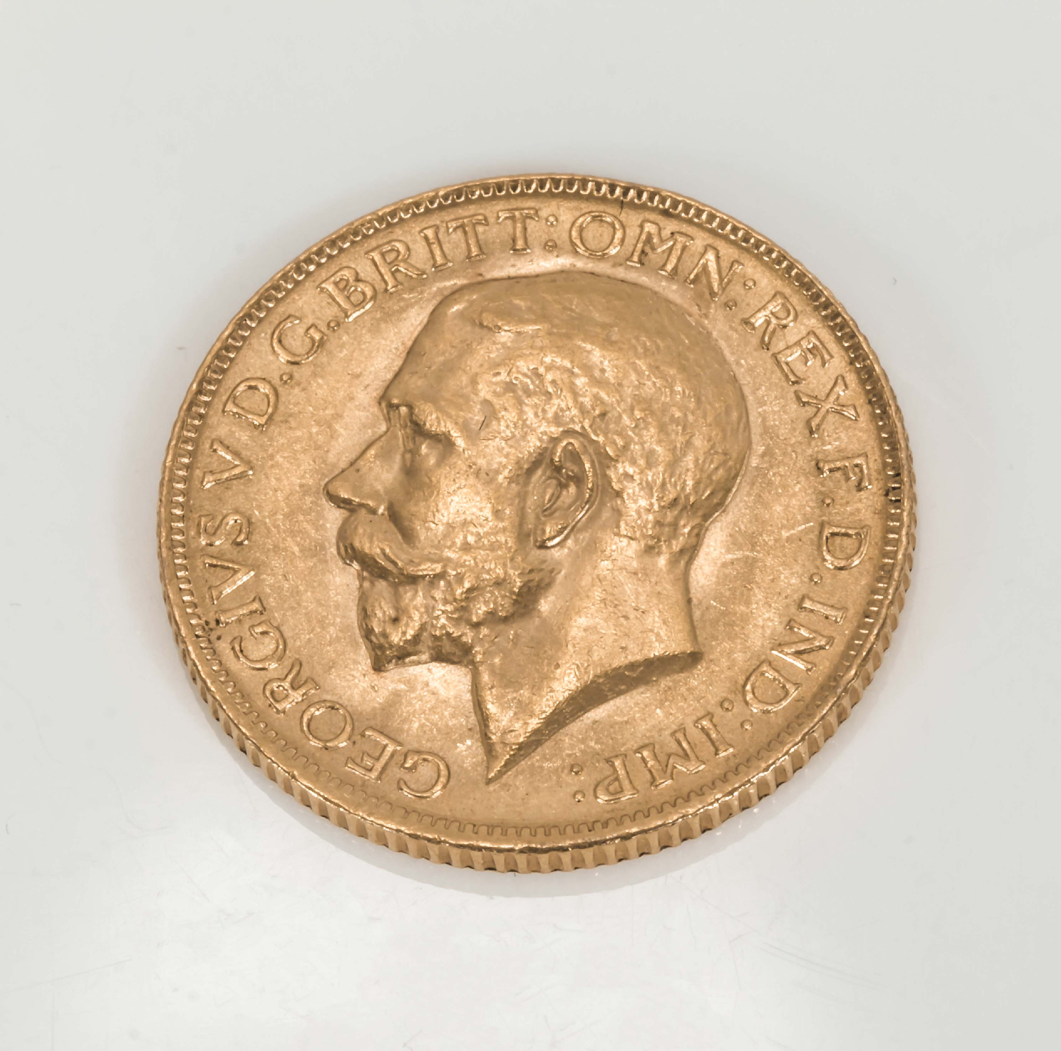 Lot 270 - A George V gold sovereign 1918