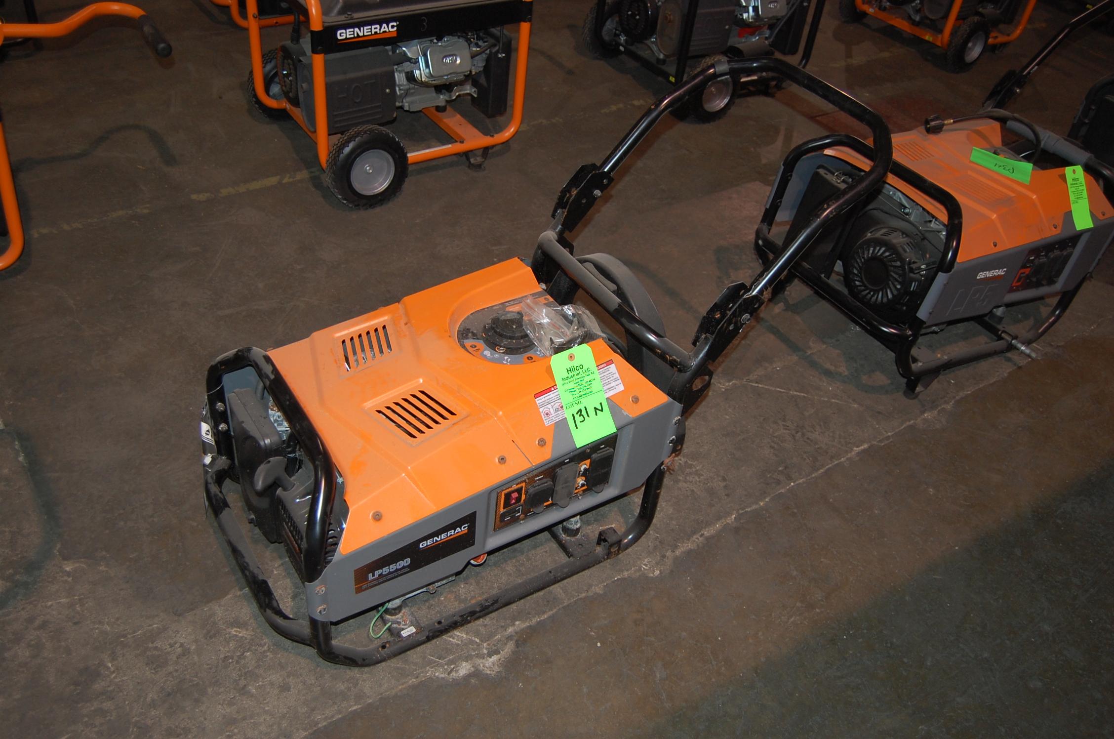 Generac Series LP5500 Model 6001 0 5 500 Watt Portable LP Gas