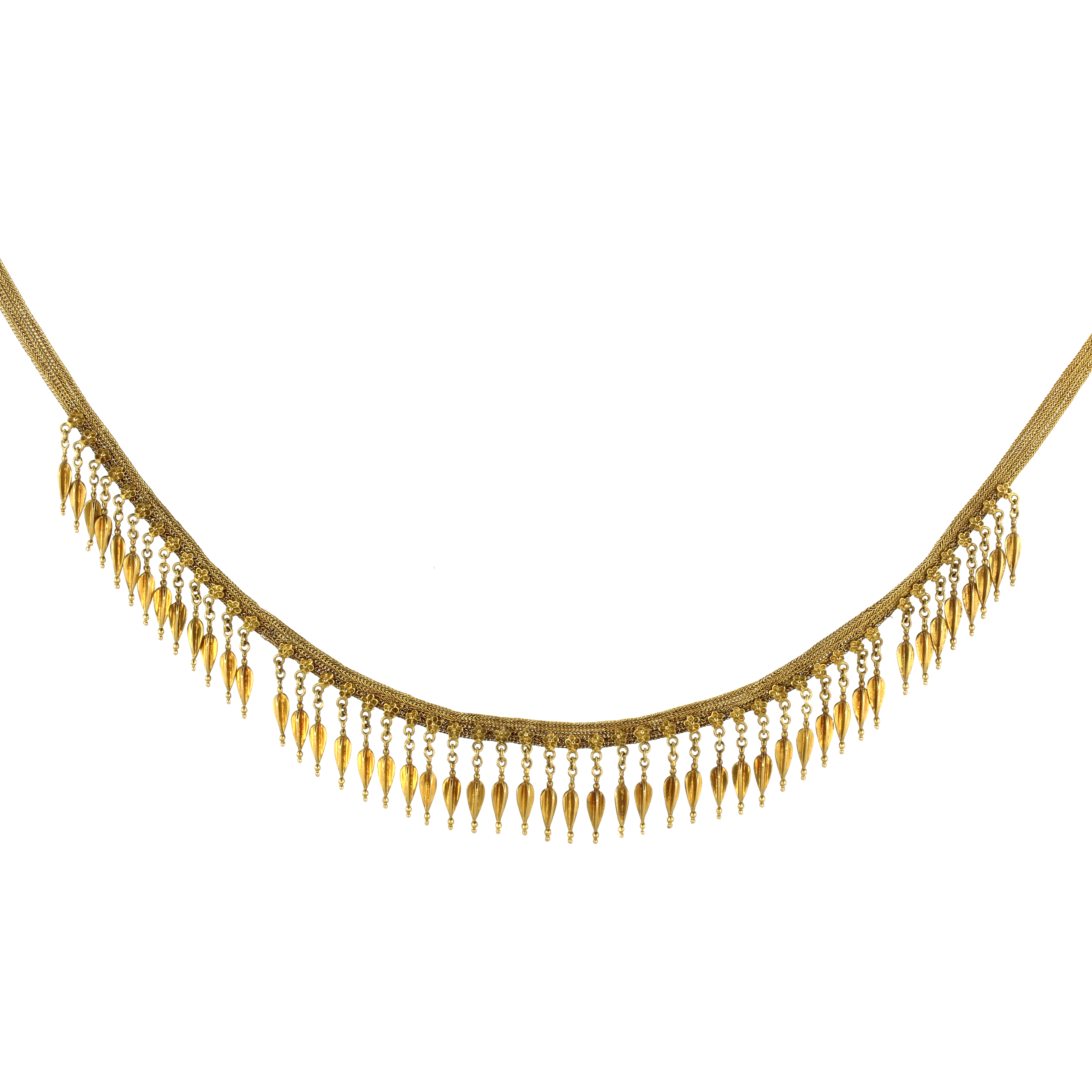 Los 50 - An Ancient Greecian / Hellenistic style necklace in 18ct yellow gold, designed after the necklace