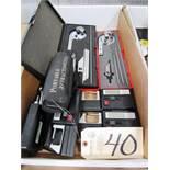 (2) Protractors & (4) Sony U-Mate Calipers