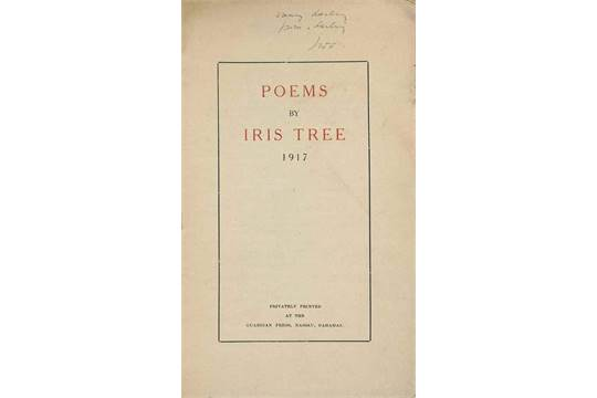 Tree Iris Poems By Iris Tree Privately Printed At The
