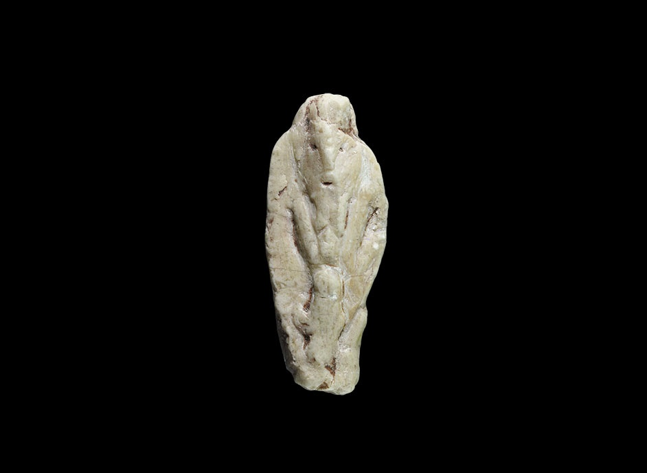 Th century ad a fragment of stone figure with