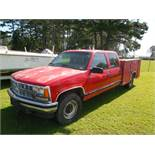 1997 Chev Crew Cab 3500 4 dr, Simpson 8' utility body, gas, manual, not running229,700 miles vin#
