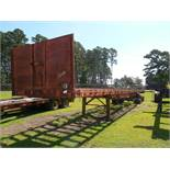 Arrow flat bed trailer missing tires and rims and deckvin# 163620