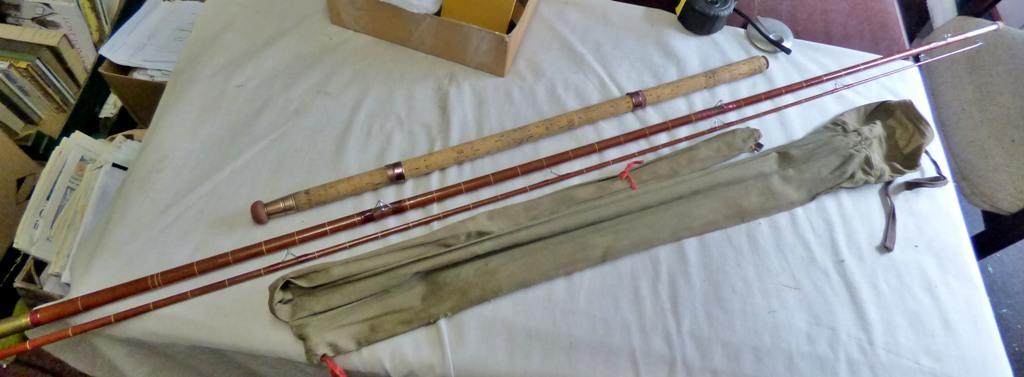 "Lot 9 - Rodrill - 12ft 6"" (3) section fibre rod"
