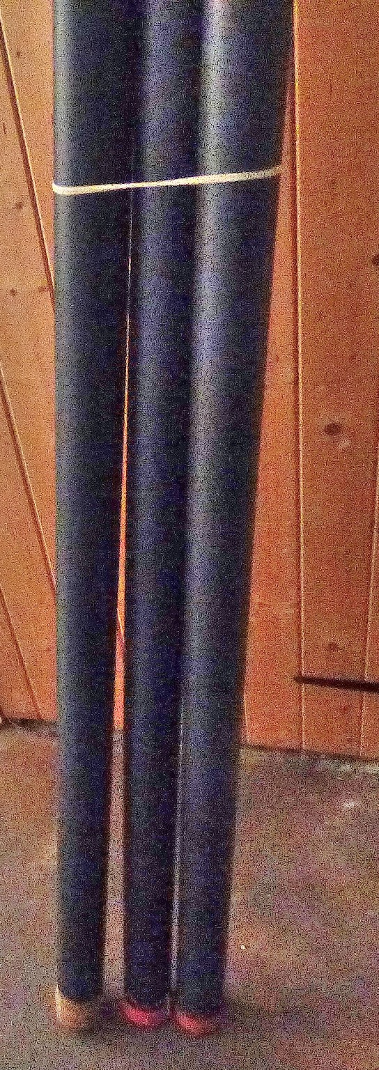 Lot 43 - Shakespeare 'Pro Power' Put over 8m pole - Daiwa 14m 'Black Shadow' all round pole - tube with odd