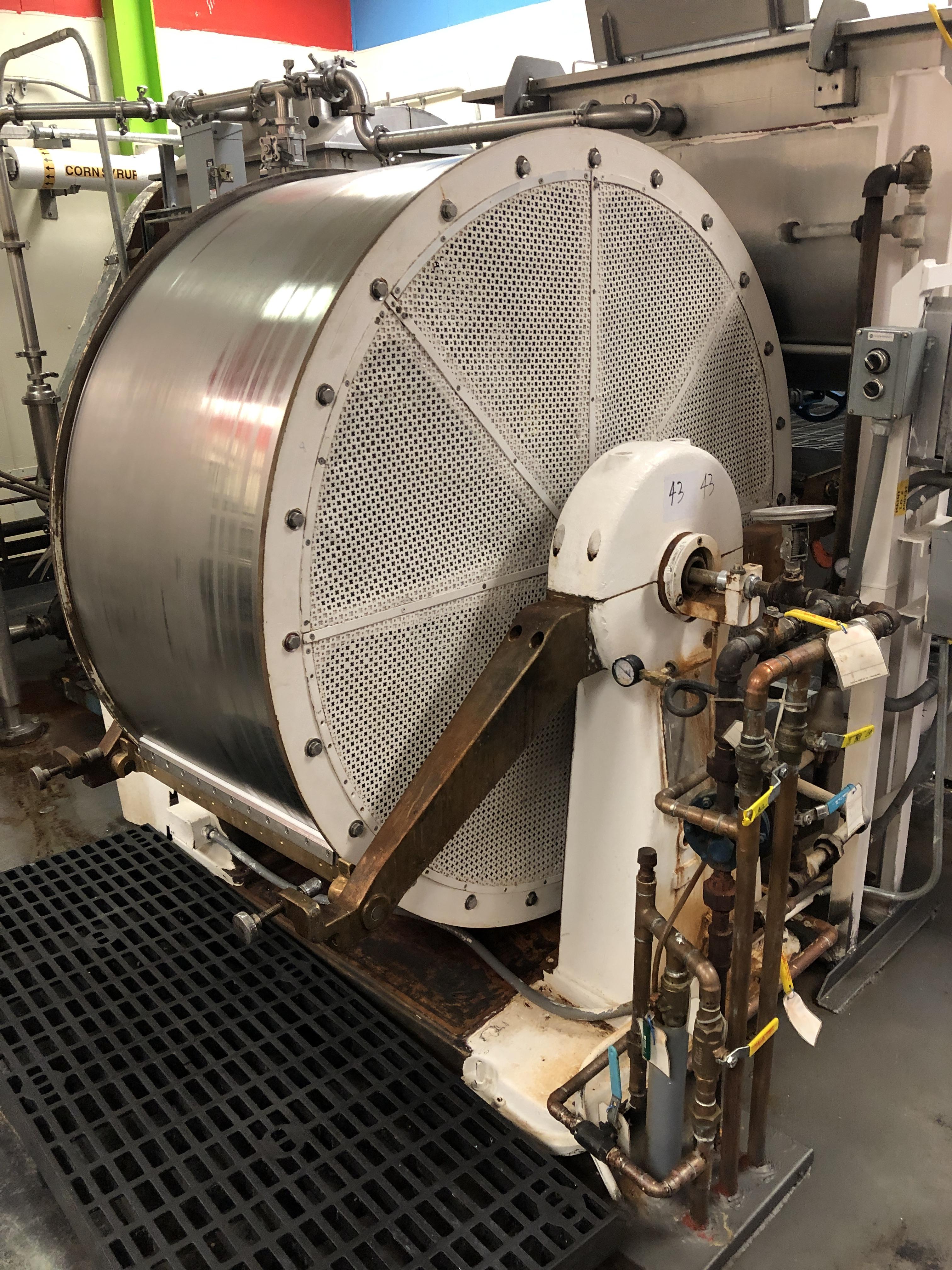 "Lot 43 - Ruffinatti RCT-150 Cooling Wheel 27"" wide x 60"" diameter Cooling Wheel, hopper and scraper"