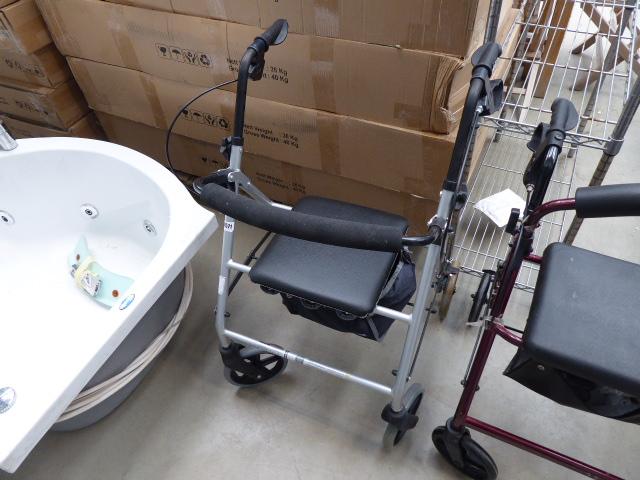 4264 - Silver 4 wheel mobility walking aid