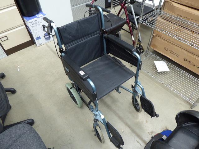 4266 - Light blue foldup wheelchair