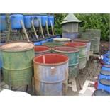 12 x steel drum Pheasant feeders
