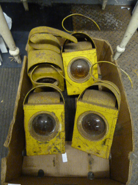 Lot 13a - Four Roadworks Warning Lamps