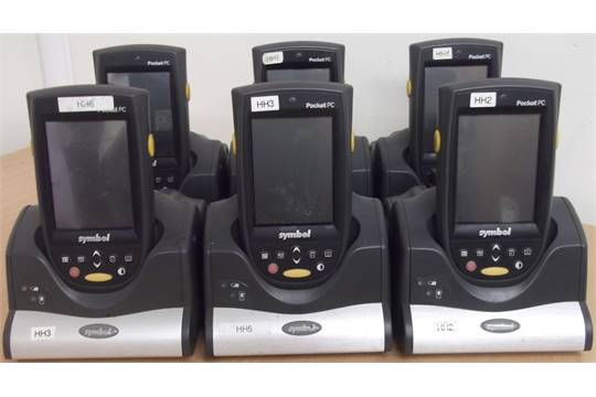 6 X Symbol N410 Wireless Handheld Pocket Pc Barcode Scanner
