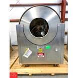 Velo Nicomac S/S Polishing Pan Model Nicomatic Pan, Size CVN 350, S/N 7957/10/91/7 Rigging Fee: $